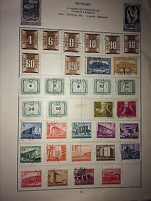 Bulk lot stamps from Hungary on album pages see scans