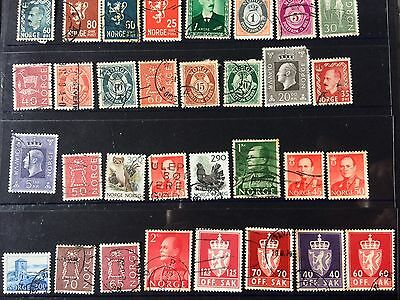 Old collection of stamps from Norway all different great gap filler