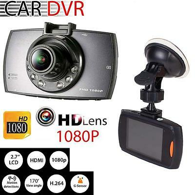 1080P HD CAR DVR G-sensor IR Night Vision Vehicle Camera Recorder Dash Cam @UP