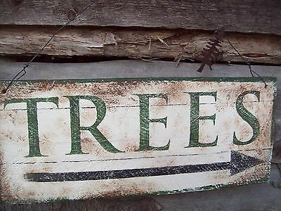 * Rustic*wood*trees*sign*country~Primitive*avertising Sign*tree Farm*