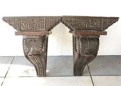 Large Beautiful Antique Entryway Corbels Old Victorian Gingerbread Hand Carved