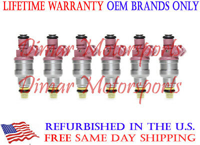 0280150998 Rebuilt by Master ASE Mechanic USA 6 OEM Bosch Fuel Injectors Set