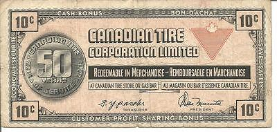 Canadian Tire Money 10 Cents 1972