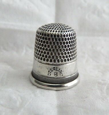 Antique Sterling Silver Thimble Size 8
