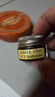 Vintage 1930 Quaker State Oil Salesman Sample No 3 Quadrolube