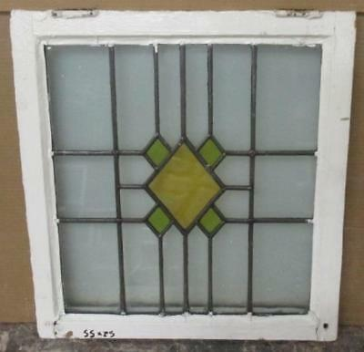 """OLD ENGLISH LEADED STAINED GLASS WINDOW Pretty Diamond Abstract 20.25"""" x 22"""""""