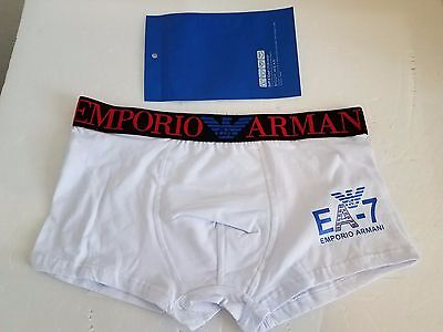 Men's Emporio Armani White/black underwear trunk  boxer size L