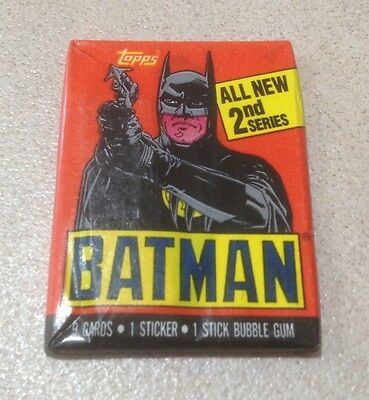 "1989 Topps ""Batman (The Movie) - Series 2"" - Wax Pack (Batman Variation)"