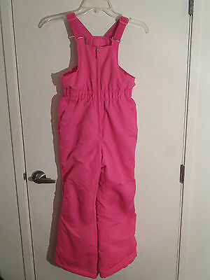 Girls Pink Faded Glory Size M 7-8 Winter Snow Bib Suit