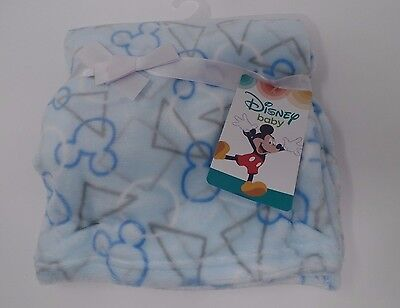 NWT Mickey Mouse Blankets Baby Boy Flannel Fleece Plush Blanket