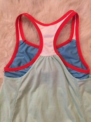 Nike Dri Fit Racerback tank top with bra Medium Athletic Active Red Blue Green