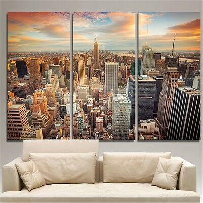 New York City Canvas Print Painting Picture Wall Art Decor Landscape Unframed