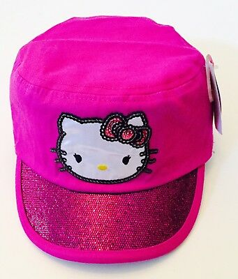 Hello Kitty Girls Sequins Pink Hat NWT