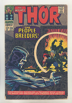 Thor #134 VG+ Kirby, Colletta, Intro High Evolutionary & Man-Beast, Tales Asgard