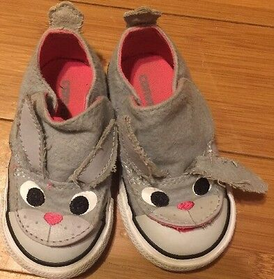 Converse Toddler Girl's One Star Gray Bunny Sneakers Shoes Size 5