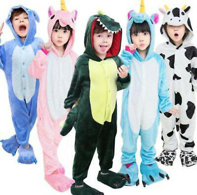 Kids boys girls Unisex Onesie1 Kigurumi Animal Pajamas Cosplay Costume Sleepwear