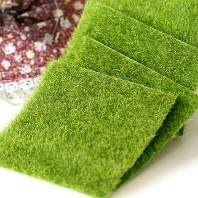 Plastic Square Artificial Grass Mat Thick Greengrocer Fake Turf Lawn B