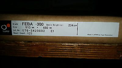Yupo FEBA 300 - 234 GSM (300 micron) Synthetic Paper 10 sheets 910mmx650mm