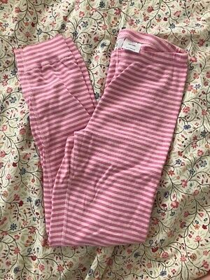 Girls Hanna Andersson Pajama Bottoms Pants Size 140 Pink Striped Size 10
