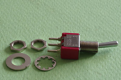 Pack of 5 C&K Model 7101 Switches Brand new original packaged w nuts and washers