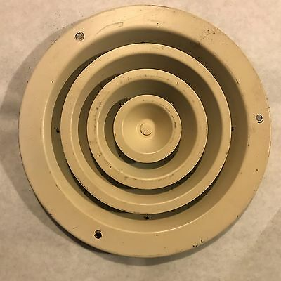 "Vintage 10"" Round Ceiling Register Vent Defuser Fixed  ~FREE SHIPPING~"