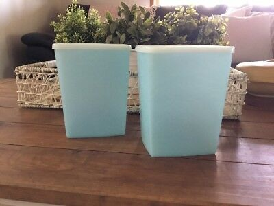 Tupperware Vintage Blue Containers