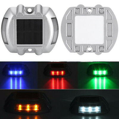 Solar Power Marker LED Outdoor Road Driveway Pathway Dock Path Ground Step Light
