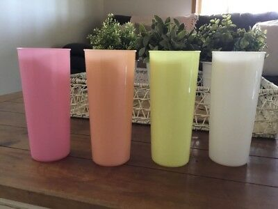 Tupperware Vintage Tumblers Picnic Cups Set Of Four - Large