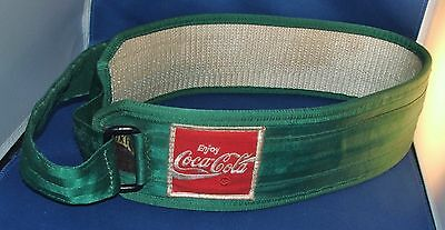 Coca-Cola Vintage 1980s Green Delivery Driver Back Support Belt By Toka Size L