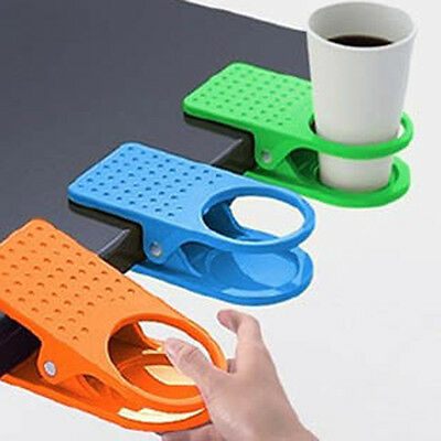 Newest Creative Office Home Desk Table Drink Water Coffee Mug Clip On Cup Holder