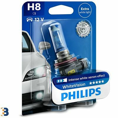 Philips H8 White Vision 708 Xenon effect headlight bulb 12360WHVB1 SINGLE