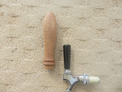 Hand-crafted, wooden beer tap handle