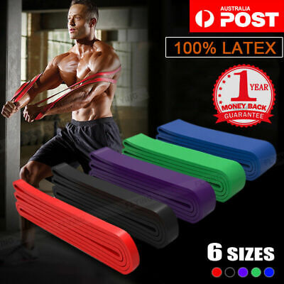 Heavy Duty Resistance Band Yoga Loop Gym Strength Exercise Fitness Home