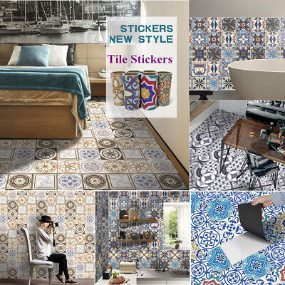 5M Self Adhesive Tile Vinyl Art Wall Decal Sticker DIY Kitchen Home Room Decor