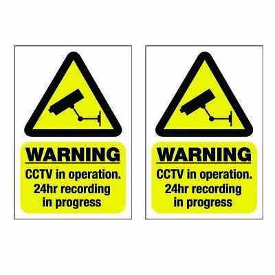 Pack of 2 CCTV in operation stickers sign  Warning Security Decal  Self Adhesive