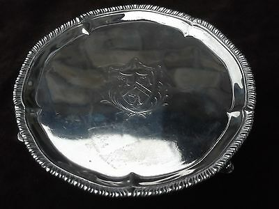 1775 small Georgian George 111 salver by WC great crest