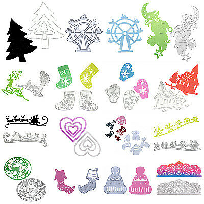 Metal Cutting Dies Stencil Scrapbooking Paper Album Embossing Card Craft Xmas