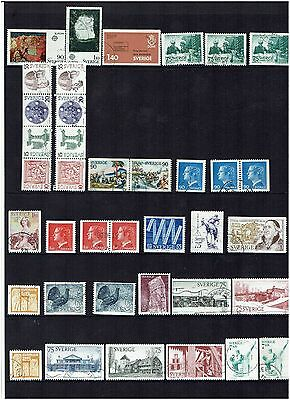 Sweden Stamps 1975 Year set Used.
