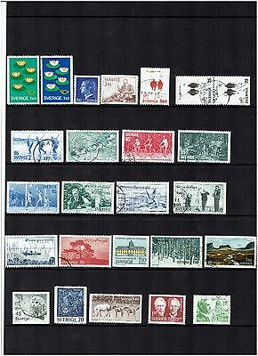 Sweden Stamps 1977 Year set Used.
