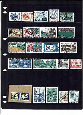 Sweden Stamps 1979 Year Set Used.
