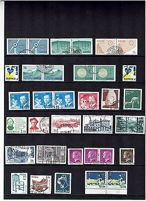 Sweden Stamps 1980 Year Set Used.