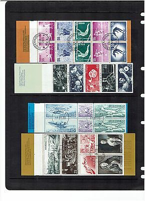 Sweden Stamps 1972 Booklets CTO 6 Booklets.Some Incomplete.