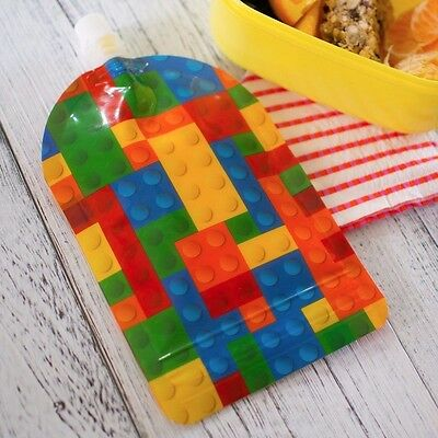 My Lil Pouch! 140ml Brick Top Spout Reusable Food Pouch - 5 pack