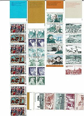Sweden Stamps 1973 Booklets CTO. Some not Complete