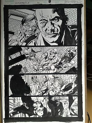 Brian Hitch Ultimates 2 Original Art - Hawkeye trapped & tortured!