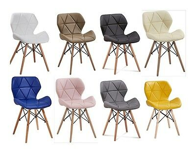 Stylish New Modern Look Chair With Oak Wood Legs Available In Many Colours Eliot