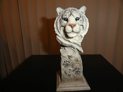 White Out- Mill Creek Studios- White Tiger statue / sculpture - Joe Slockbower