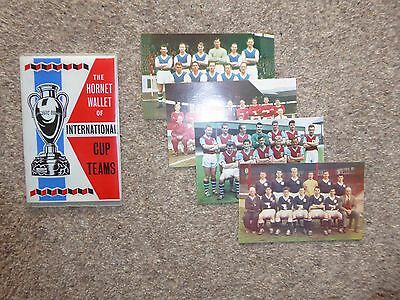 The HORNET wallet of International cup Teams + 4 cards 1960's