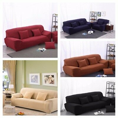 EASY  1 2 3 4 5 Seater Stretch Couch Sofa Lounge Covers Recliner Dining Chair AU