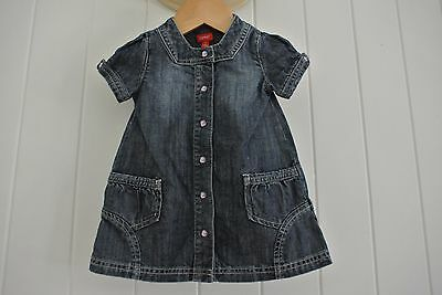 (preloved kids) Esprit Designe Girls Size 6 m ( 6-12 ) Denim Dress Casual Party